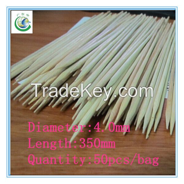 350x4.0mm high quality disposable bamboo skewer,bamboo stick