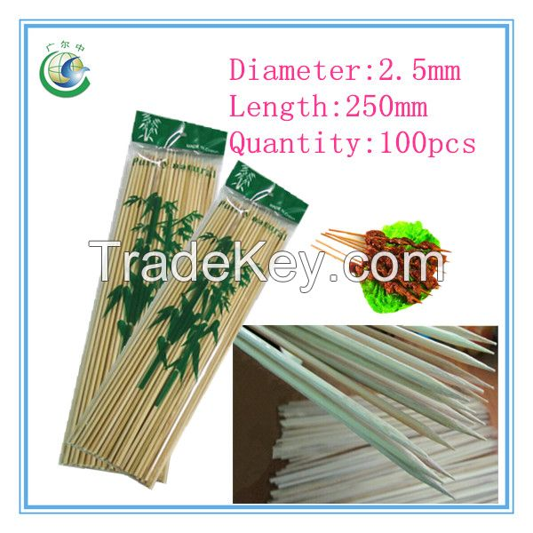 250x2.5mm  disposable bamboo skewer,bamboo stick