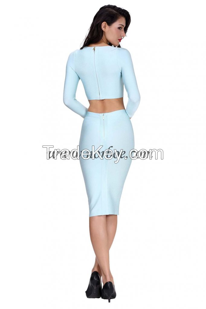Pretty style two piece winter cocktail party dresses wholesale dresses new fashion