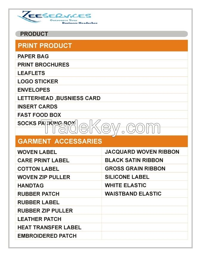 Garments and Printing accessories