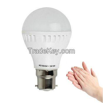 3W 5W 7W LED Bulb Nice LED Lighting 220V with Sound and Light Control