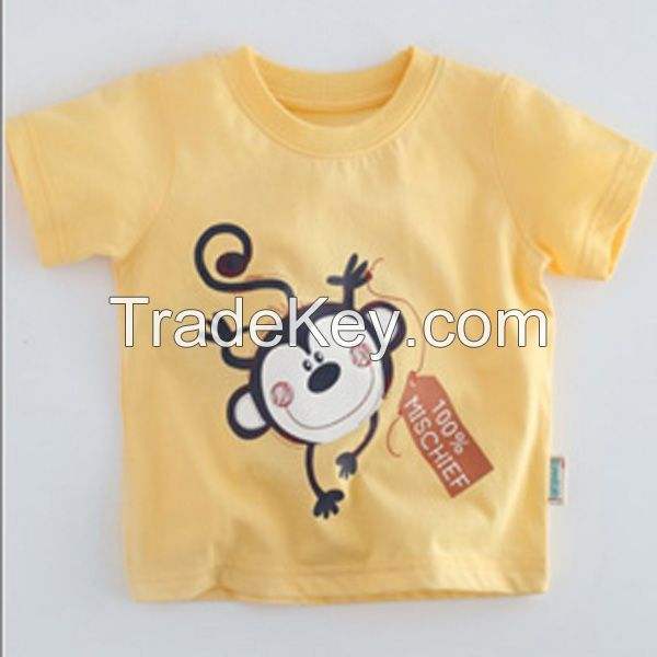 Comfortable 100% Combed Cotton Baby T-shirts Wholesale  3170205