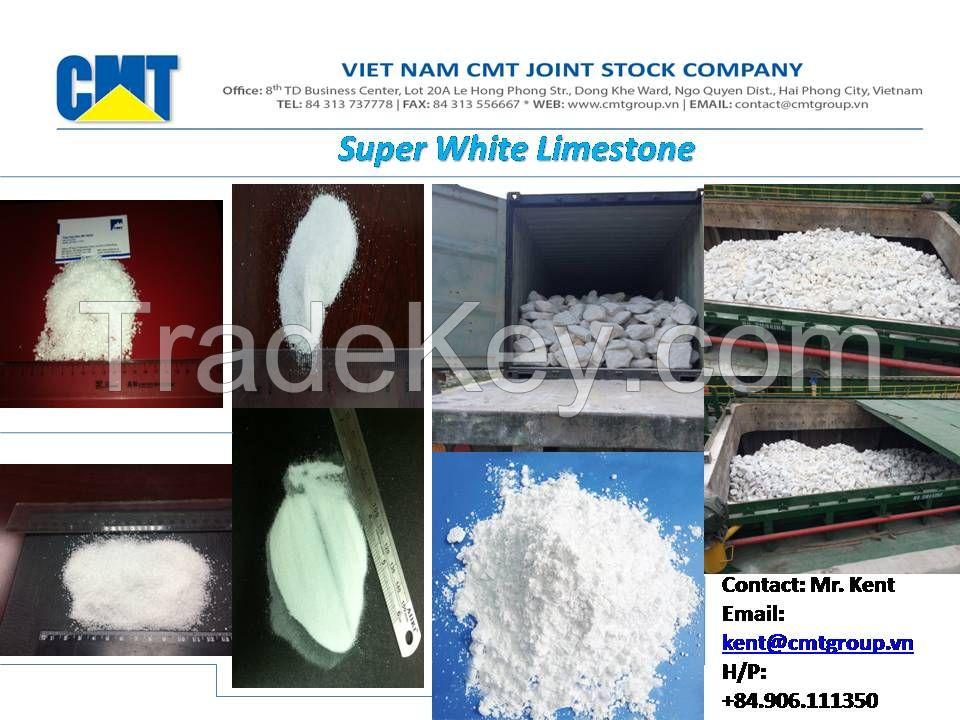 Super White Limestone/Calcium Carbonate/Calcite/Ground Calcium Carbonate/GCC/CaCO3 Powder-granular-chips-lumps