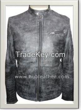 Men's Motorbike Leather Jacket Style M-122115