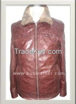 Men's Biker Leather Jacket Style M-122222M