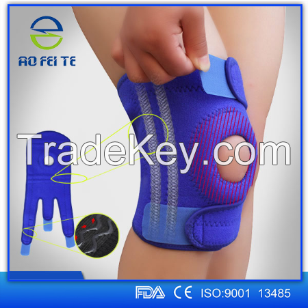 2016 new products aofeite elastic adjustable knee support brace