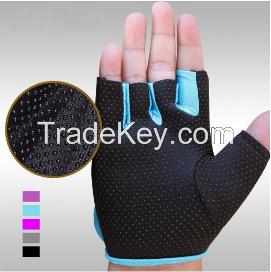 2017 New Sport Cycling Fitness Gloves GYM Half Finger Weight lifting Gloves Exercise Training