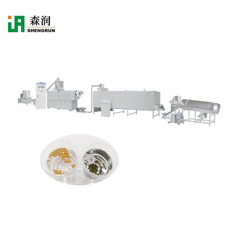 Puffed Fish Feed Pellet Processing Line Machine