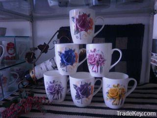 new bone china mug with full printing