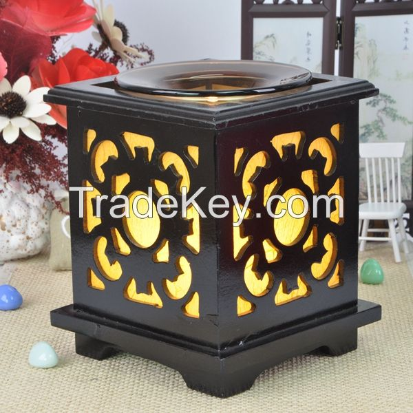 Hot-Selling Chinese Wooden Electric Night Fragrance Lamp For Office