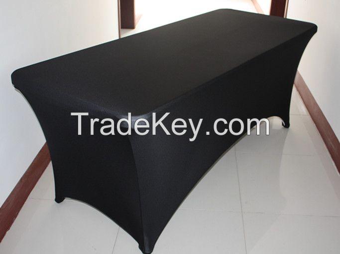 spandex table cloth/lycra stretch table cloth/6ft spandex table cloth