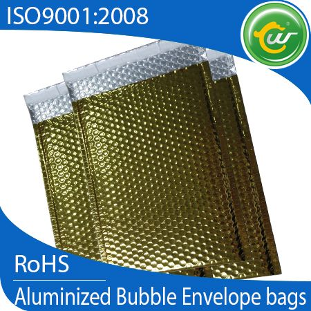 Golden recoverable RoHS with SGS bubble wrap envelopes