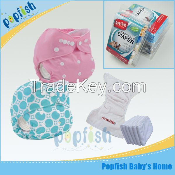 2015 baby cloth nappies washable diaper eco with gift box packing small quantity