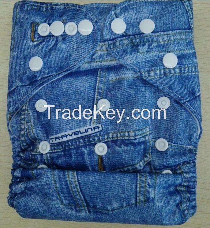 Baby Cloth Nappy - Jeans Pattern