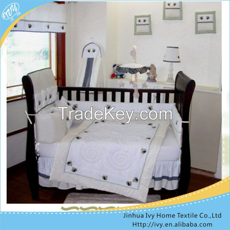 new style cartoon printed baby bedding set wicker moses