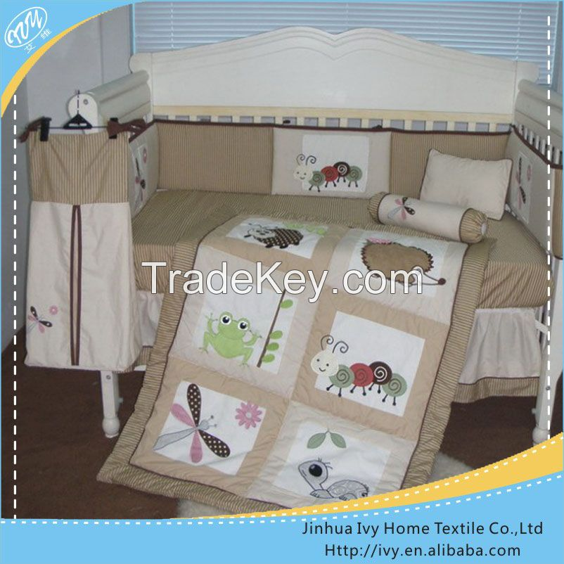 2015 New Design Home baby Textile Colorful Soft wooden cot