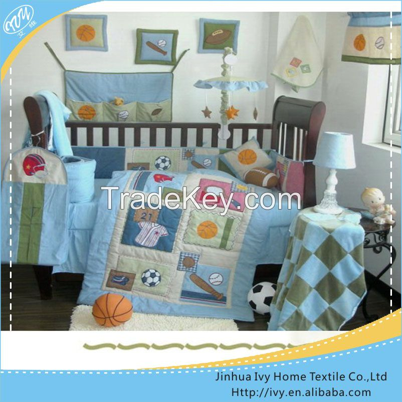 Embroidery Baby Bedding Sets With Cute Rabbit