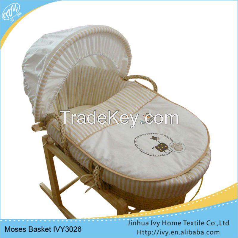 ODM baby basket set straw baby basket