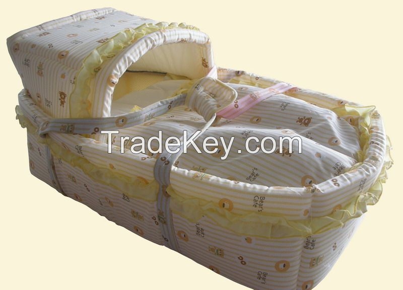 Factory direct sale baby basket set wooden baby cot