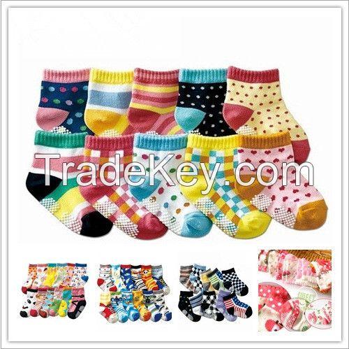 unti-slip baby socks baby colorful cotton socks