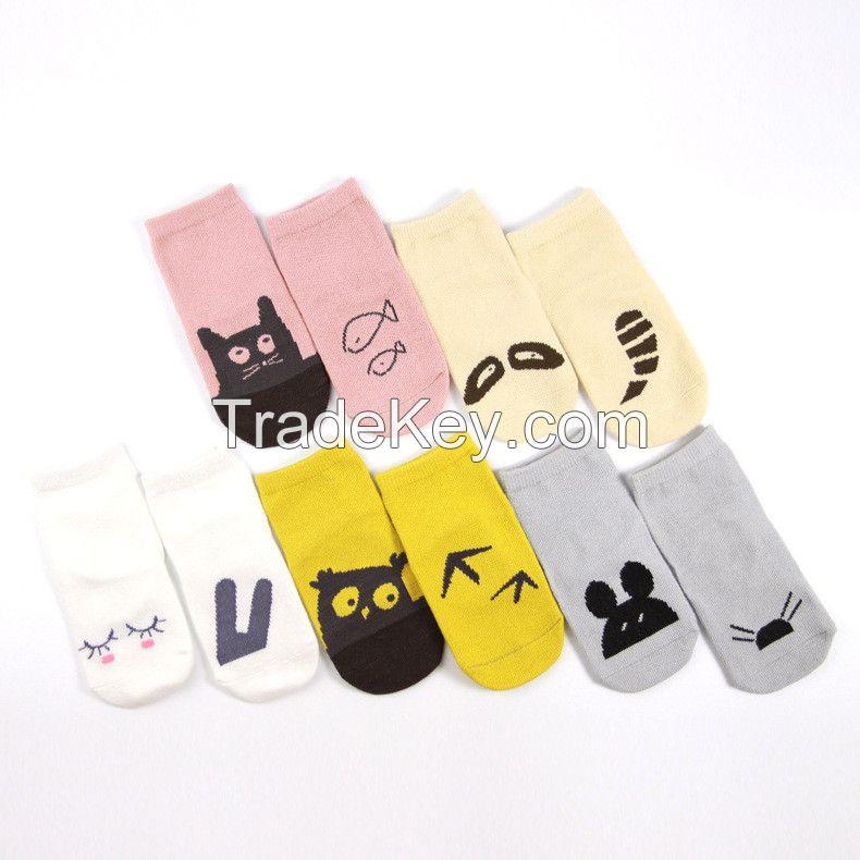 unti-slip baby socks baby combed cotton socks