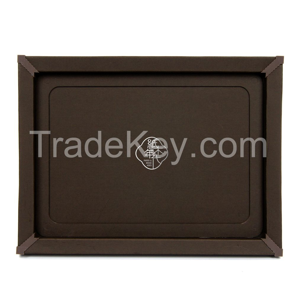 Paper&Wood Ages Dark Brown Cardboard Picture Frame, Picture Mats, Paper Picture/Poster Frame.Cardboard Removable Picture Photo Frame, Paper Photo Frame, Cardboard Photo Frame (Blu-Tack Included)