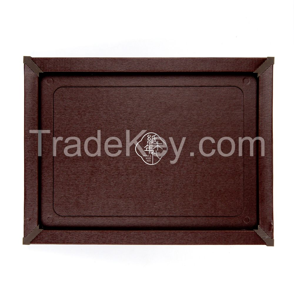 Paper&Wood Ages Dark Red Cardboard Picture Frame, Picture Mats, Paper Picture/Poster Frame.Cardboard Removable Picture Photo Frame, Paper Photo Frame, Cardboard Photo Frame (Blu-Tack Included)
