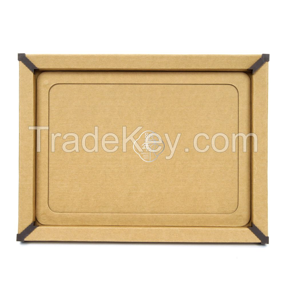 Paper&Wood Ages Light Brown Wood Cardboard Picture Frame, Picture Mats, Paper Picture/Poster Frame.Cardboard Removable Picture Photo Frame, Paper Photo Frame, Cardboard Photo Frame (Blu-Tack Included)
