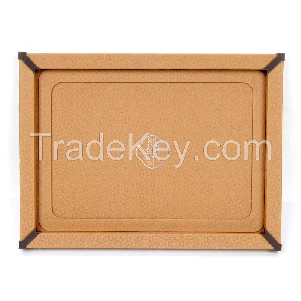 Paper&Wood Ages Orange Cross texture Cloth Style Cardboard Picture Frame, Picture Mats, Paper Picture/Poster Frame.Cardboard Removable Picture Photo Frame, Paper Photo Frame, Cardboard Photo Frame (Blu-Tack Included)