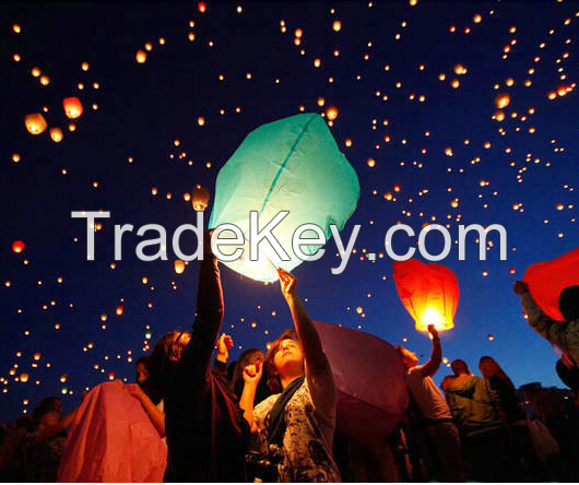 Biodegradable flying sky lanterns