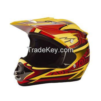 Motocross helmet--DP-902---1-yellow(ECE/DOT Approved)