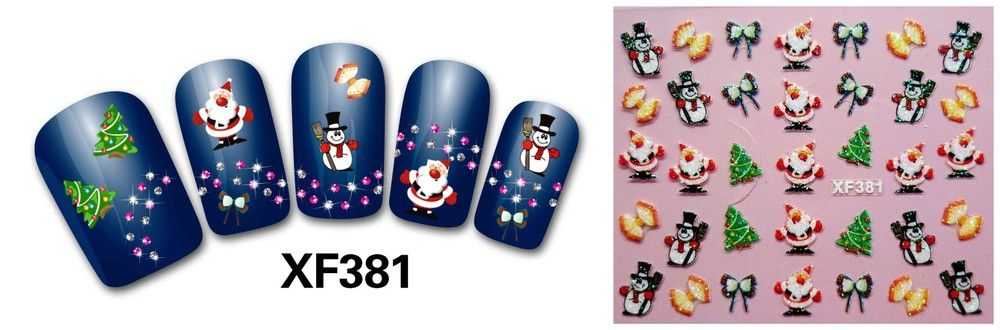 Free Shipping XF series 3d nail art nail sticker