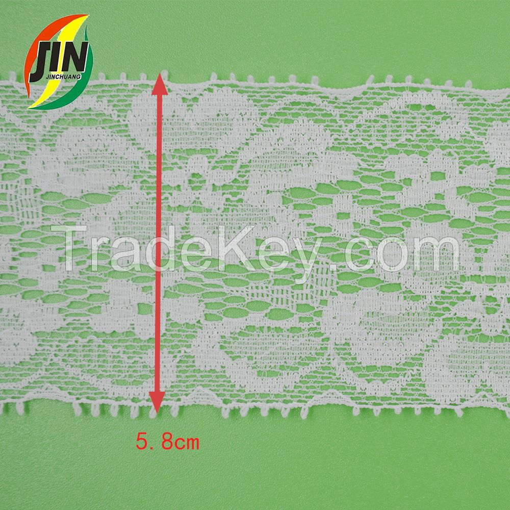 Stretch Lace Trimming in Spandex or Nylon