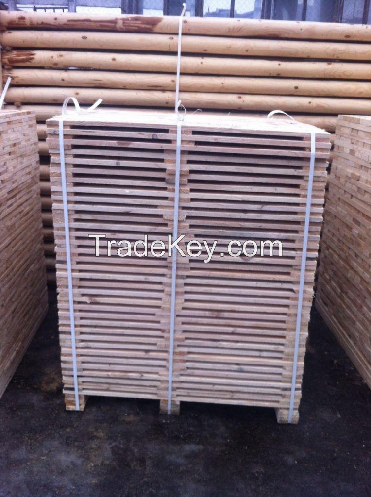 pine wood pallet elements, pine lumber for pallets, pallet boards