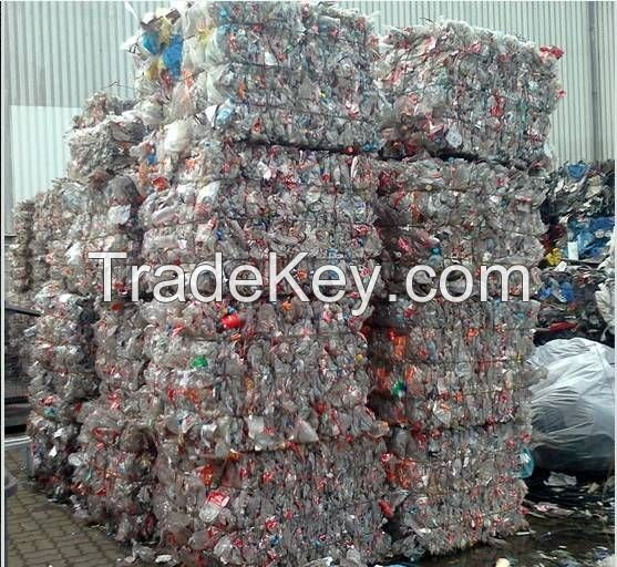 Waste office papers and plastic scrap
