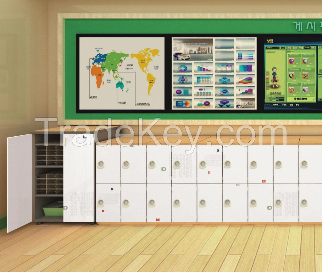 School Metal Locker With File Cabinet