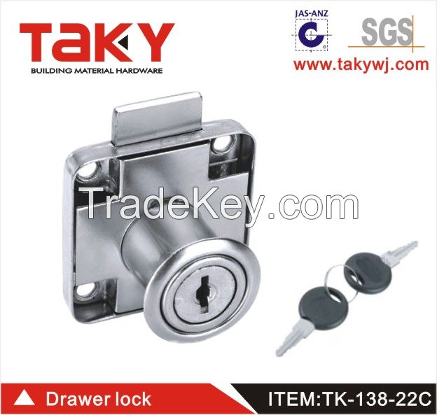TK-138-22 zinc alloy cabinet drawer lock