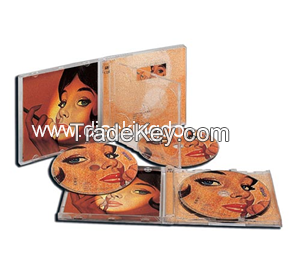 wholesale Screen printing dvd box double media packeting