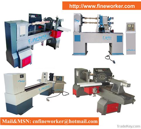 High Efficiency Automatic CNC Wood Lathe