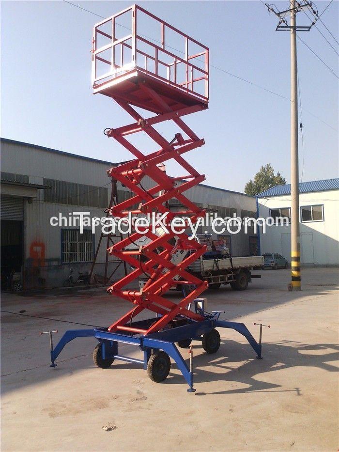 Mobile hydraulic scissor aerial work lifter platform