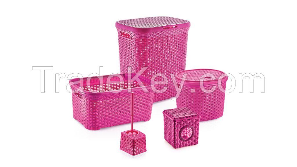 Rattan Bathroom Set 5 pcs