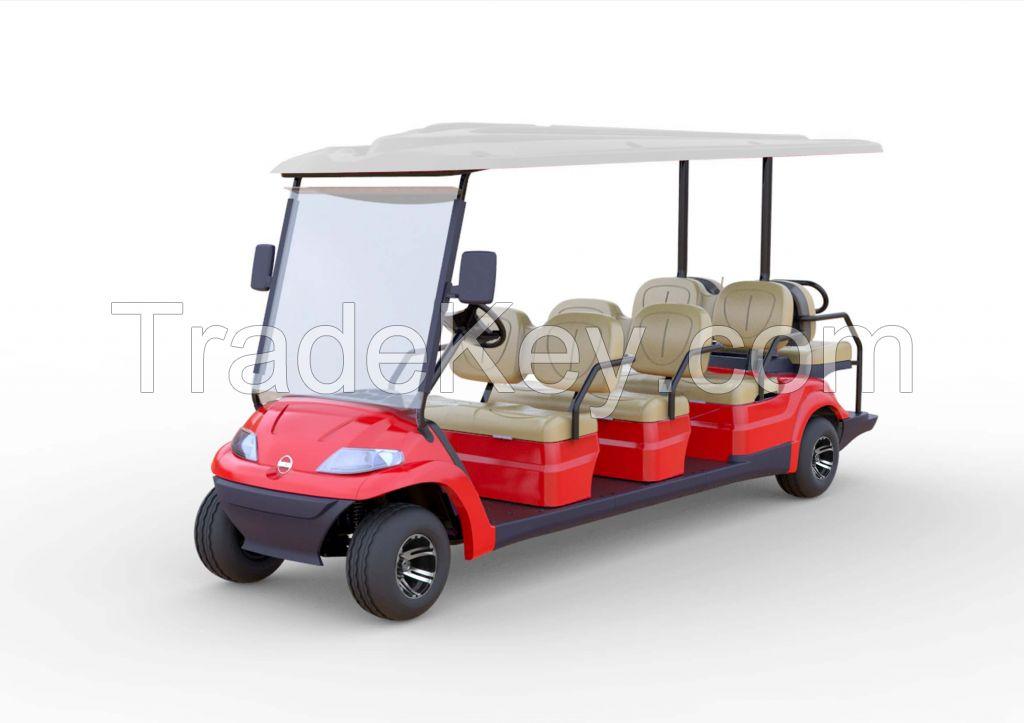 Advanced EV multi passenger electric shuttle vehicle