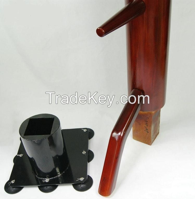 Solid Wing Chun Wooden Dummy Suction Cup style