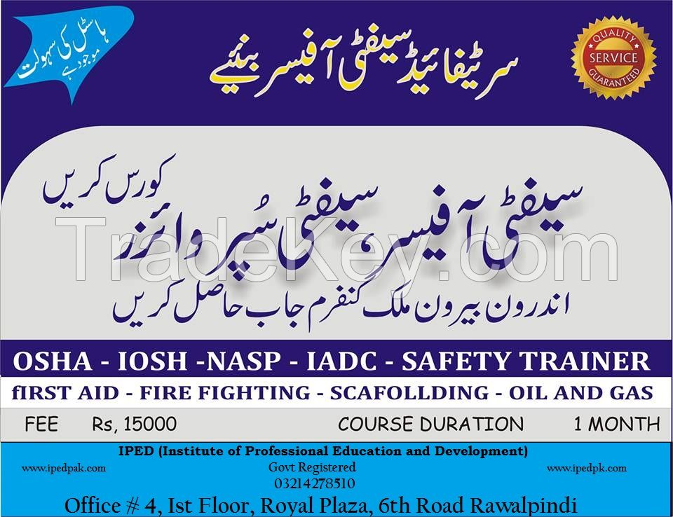 Diploma in safety officer,Petroleum Eng,Civil Eng,Drilling, Oil and Gas