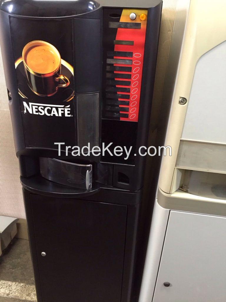 Used hot drinks coffe vending machines Necta Brio Astro Kikko Colibri