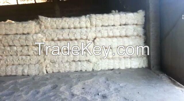 100% Raw Natural Sisal Fiber- white and brushed