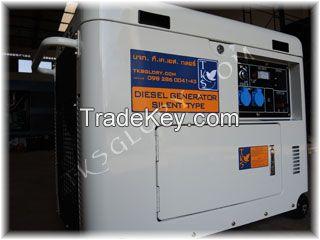 Diesel Generator 5.5 KW open top canopy (silent type)