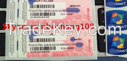 Win 7 Pro OEM Coa Sticker,Coa Key