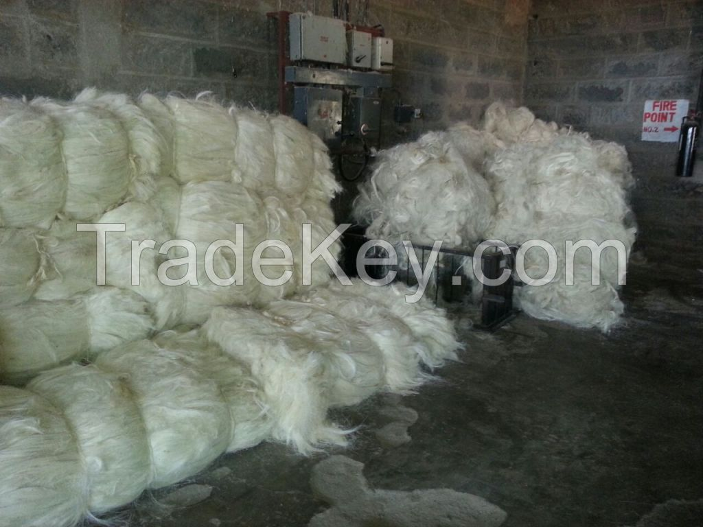 100% Natural Sisal Fiber UG and SSUG Grade of Kenyan Origin