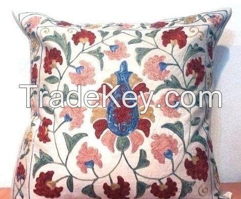 Embroideried Uzbek suzani cushion covers